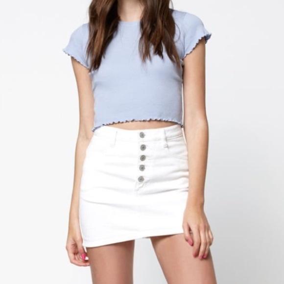 46fca96b42 Brandy Melville Skirts | John Galt White Denim Skirt | Poshmark
